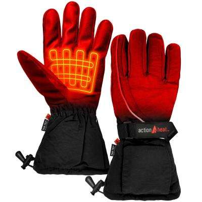 Men's Black AA Battery Heated Gloves