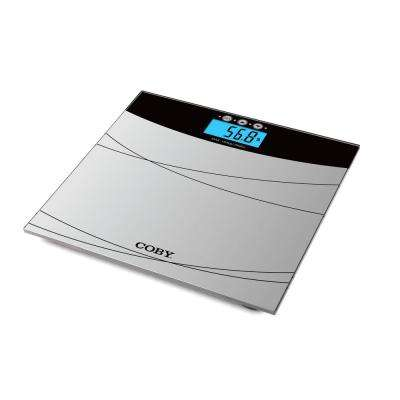 Digital Bathroom Scale with Color Changing Display and BMI Estimator