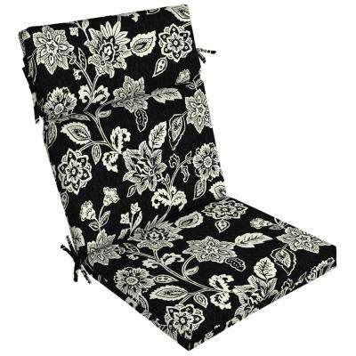 21 in. x 44 in. Ashland Jacobean Outdoor Dining Chair Cushion