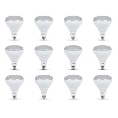 65-Watt Equivalent BR40 Dimmable CEC Title 24 Compliant LED Light Bulb Soft White (12-Pack)
