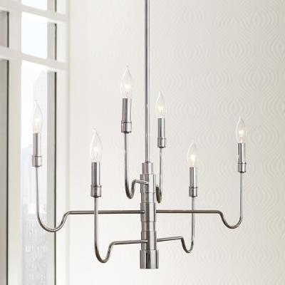 Candell 6-Light Polished Nickel Chandelier