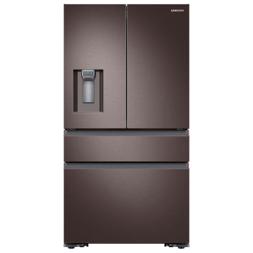 Samsung 22.6 cu. ft. 4-Door French Door Refrigerator with Recessed Handle in Tuscan Stainless, Counter Depth, Fingerprint Resistant Tuscan Stainless was $3332.0 now $2298.0 (31.0% off)