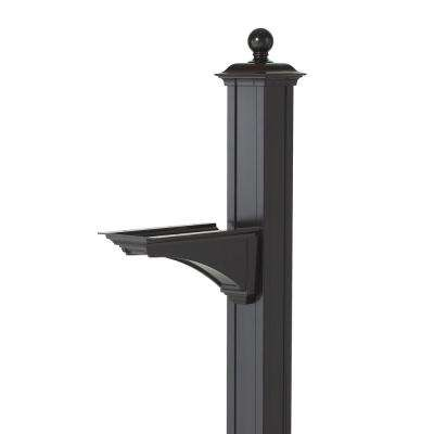 Balmoral Black Deluxe Post and Bracket with Finial