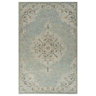 Modern Traditions LR81291-BEO90C0 Blue Lagoon Rectangle 9 ft. x 12 ft. Indoor Area Rug