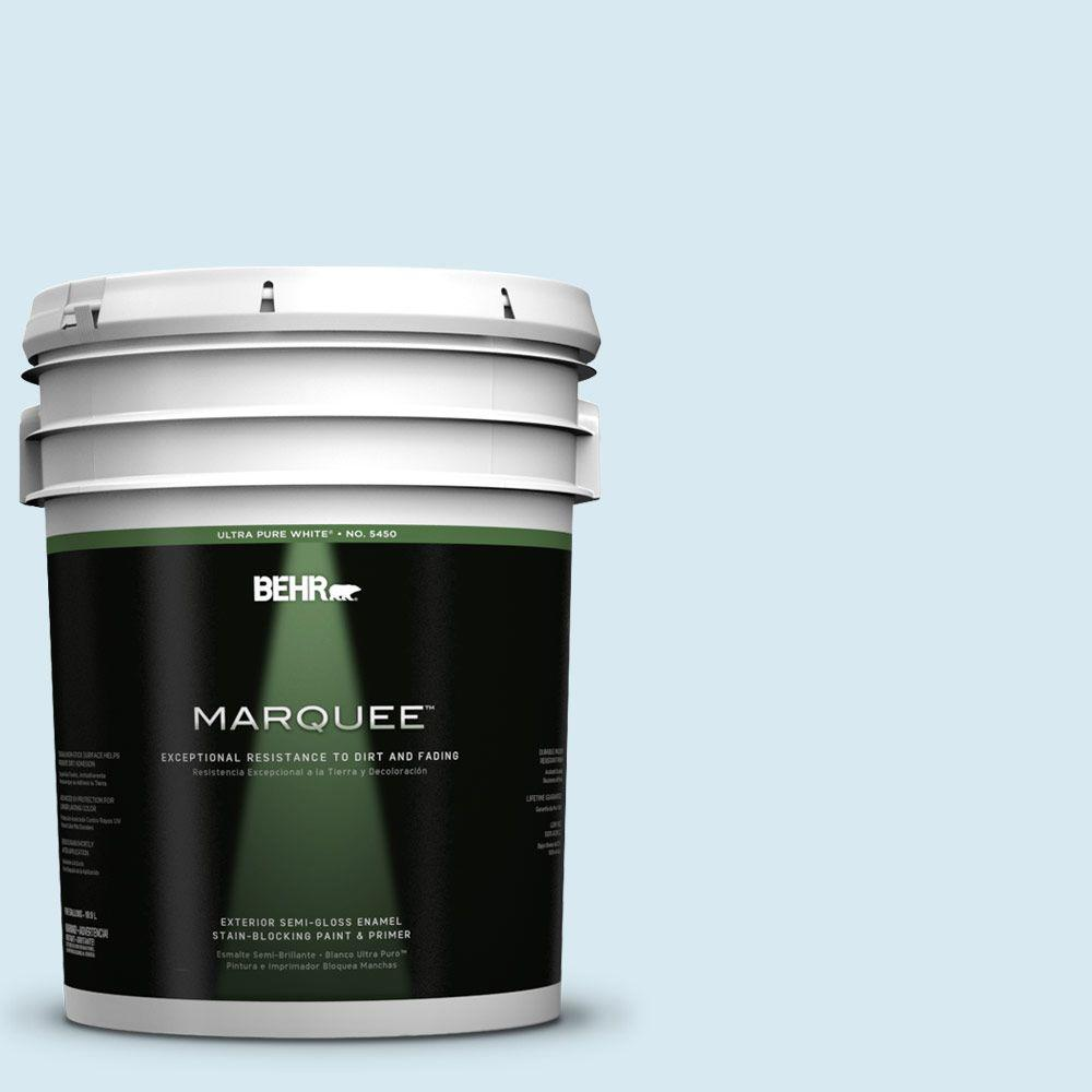 BEHR MARQUEE 5-gal. #540A-1 Frost Wind Semi-Gloss Enamel Exterior Paint