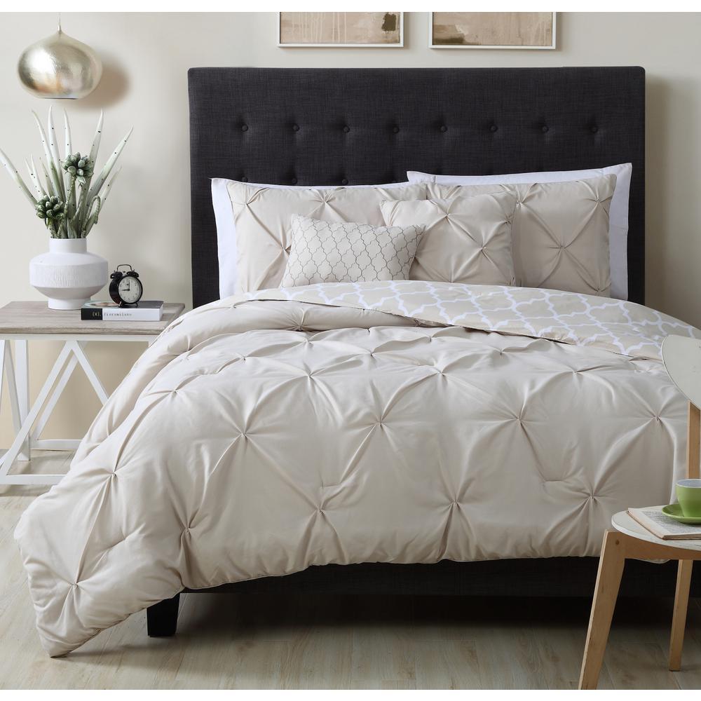 Madrid 5-Piece Taupe Queen Comforter Set