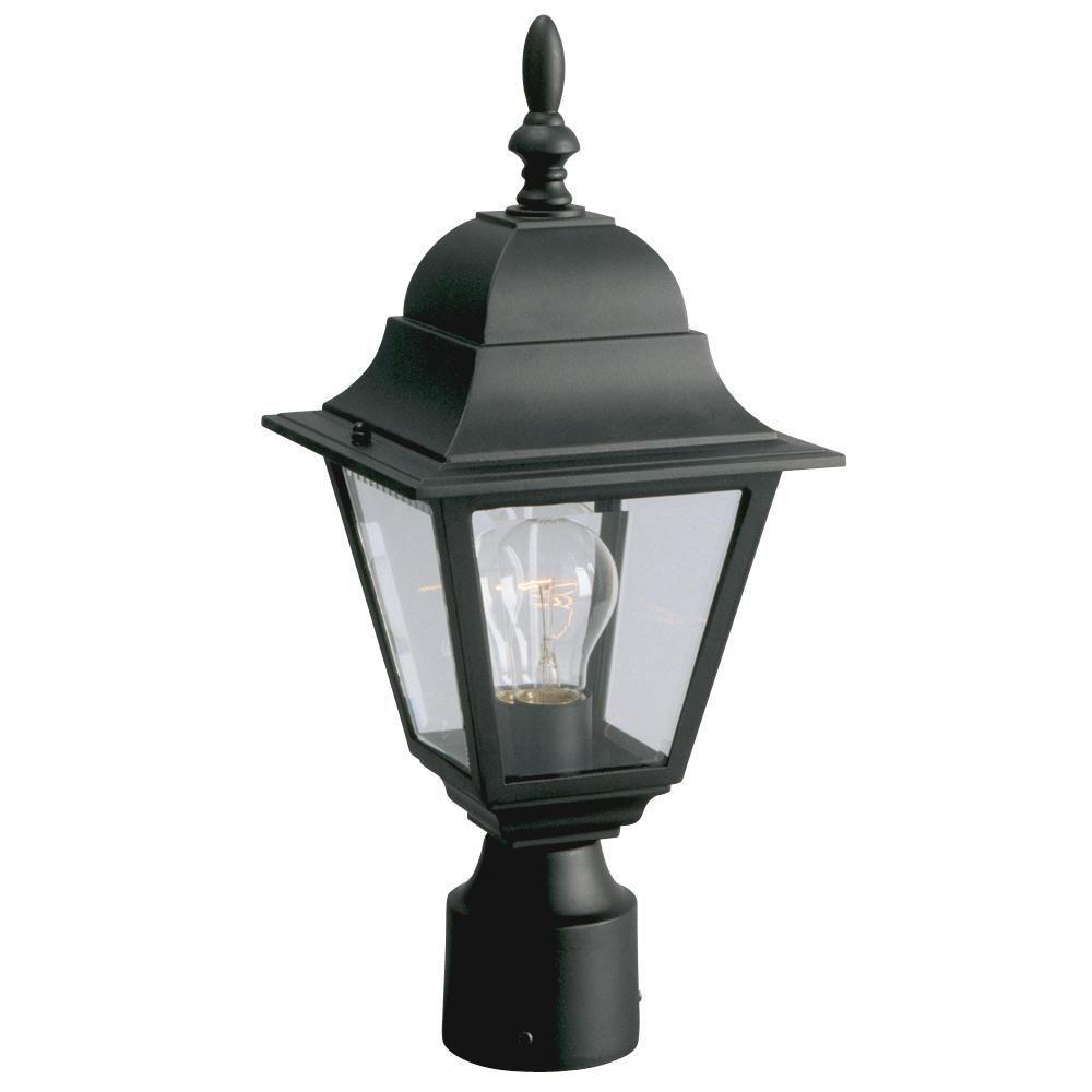 Negron 1-Light Outdoor Black Post Lantern