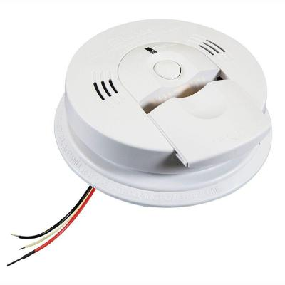 Code One Hardwire Smoke and Carbon Monoxide Combination Detector with AA Battery Backup and Voice Alarm
