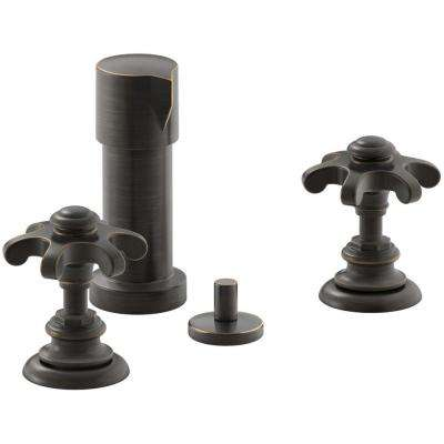 Artifacts Prong 2-Handle Bidet Faucet in Oil Rubbed Bronze