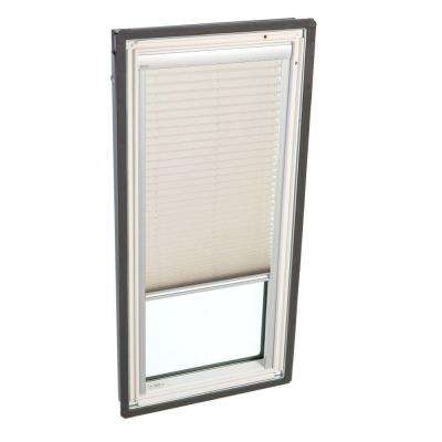 21 in. x 26-7/8 in. Fixed Deck-Mount Skylight with Laminated Low-E3 Glass and Classic Sand Manual Light Filtering Blind