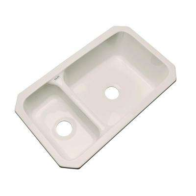 Wyndham Undermount Acrylic 33 in. Double Bowl Kitchen Sink in Desert Bloom