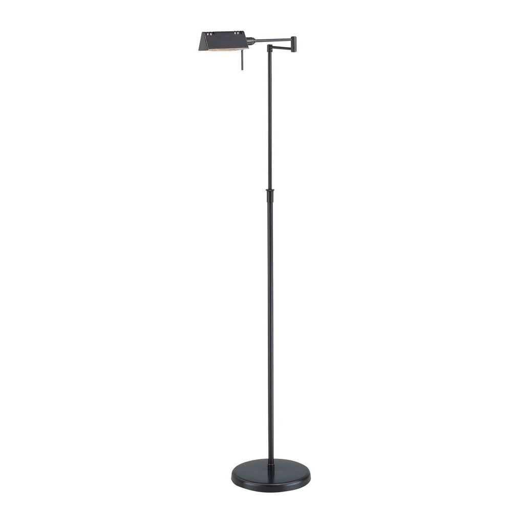 Designer Collection 55 in. Bronze Floor Lamp with Dark Bronze Metal