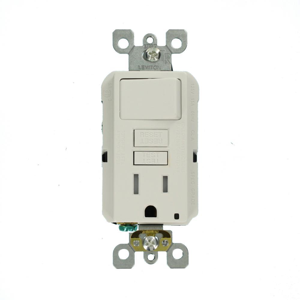 Leviton 15 Amp 125-Volt Combo Self-Test Tamper-Resistant GFCI Outlet on
