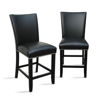 Camila Black Counter Chair (Set of 2)