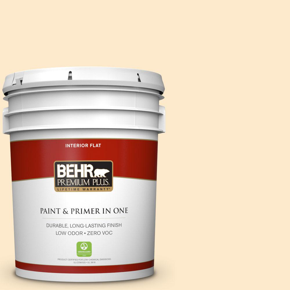 BEHR Premium Plus 5-gal. #YL-W2 Spanish Lace Flat Interior Paint