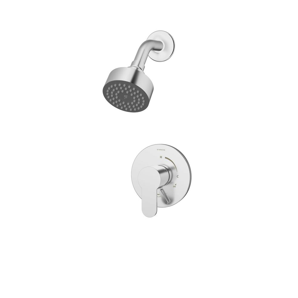 Identity Single-Handle 1-Spray Shower Faucet with Volume Control Lever in Chrome