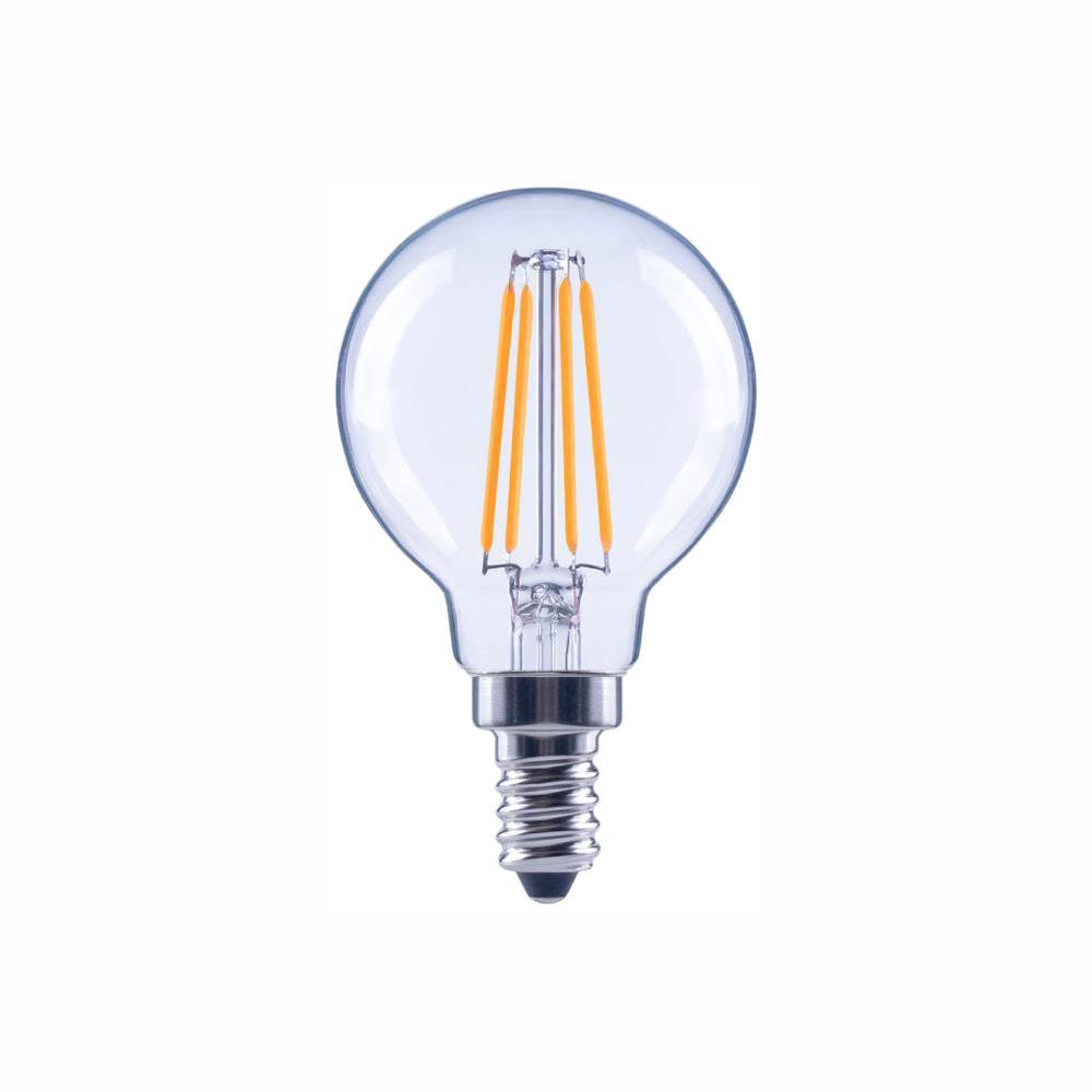 40-Watt Equivalent G16.5 Globe Dimmable Energy Star Clear Glass Filament Vintage LED Light Bulb Soft White (48-Pack)