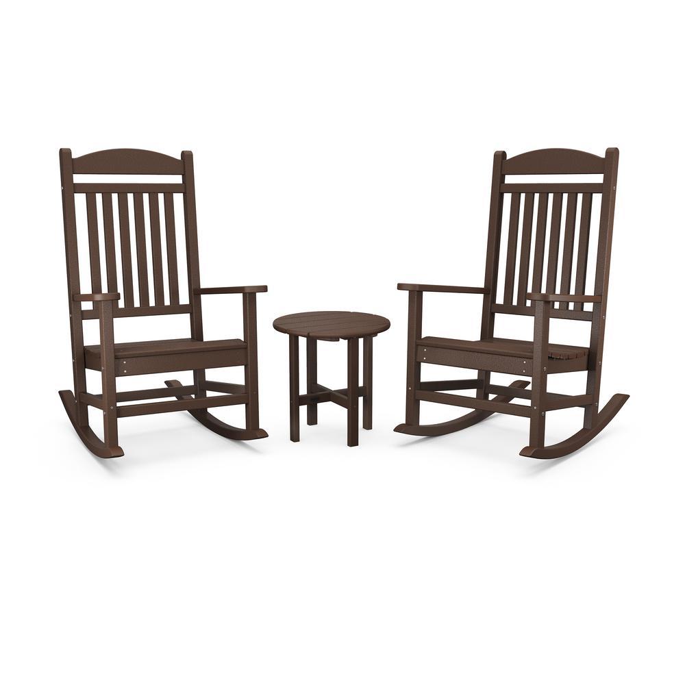 3 Piece Plastic Outdoor Rocking Chair