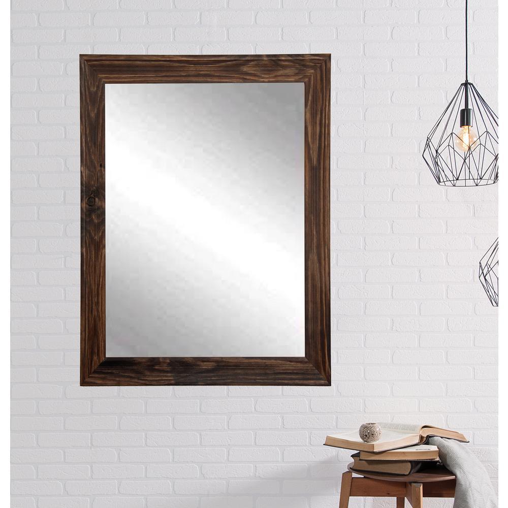 Rustic Espresso Framed Mirror-BM017M3 - The Home Depot