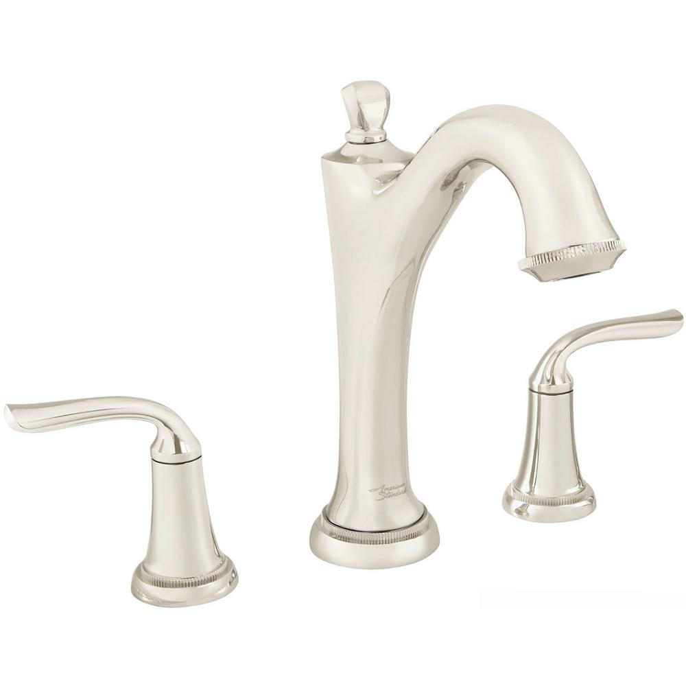 American Standard Patience 2-Handle Deck-Mount Roman Tub Faucet for Flash Rough-in Valves in Polished Nickel