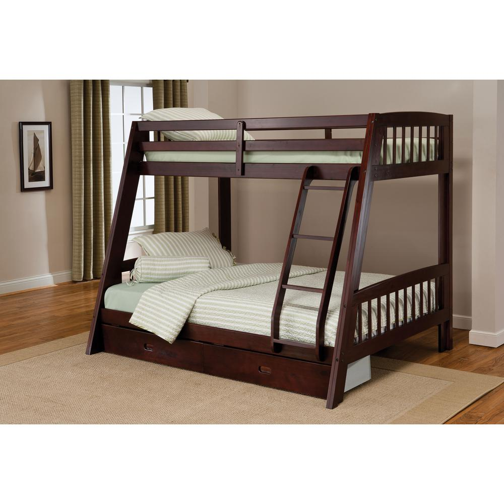 hillsdale furniture rockdale twin over full kids bunk bed 1668bb the home depot. Black Bedroom Furniture Sets. Home Design Ideas