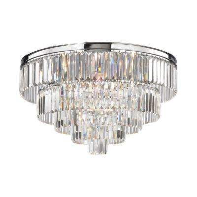 Palacial 6-Light Polished Chrome LED Flush Mount