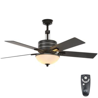 Hampton Bay Corrado 44 in. Indoor Black Ceiling Fan with ... on