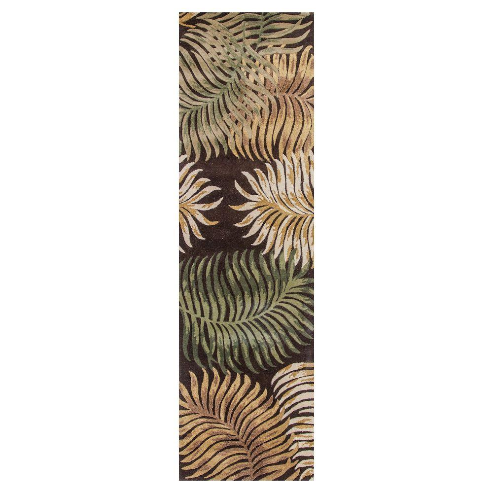 Giant Fern Espresso 2 ft. 3 in. x 8 ft. Rug
