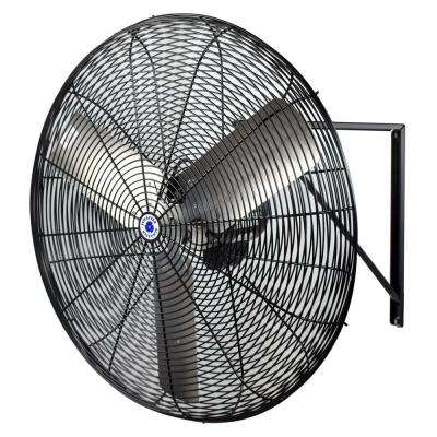 30 in. Black Circulation Wall Mounted Fan