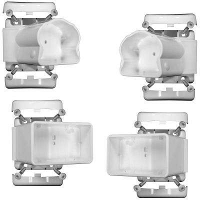 White Vinyl Traditional Left/Right Angle Bracket Kit (4-Pack)