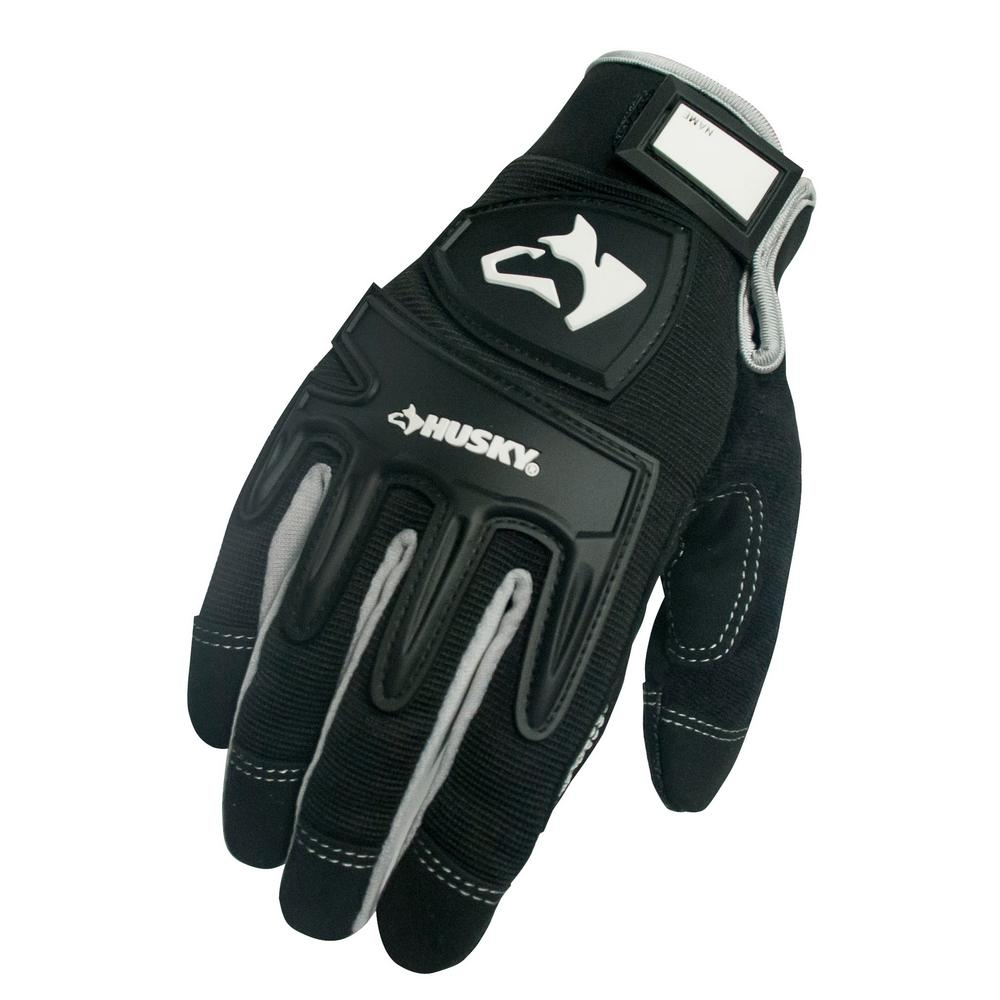 Husky Large Mechanic Glove (3-Pack)