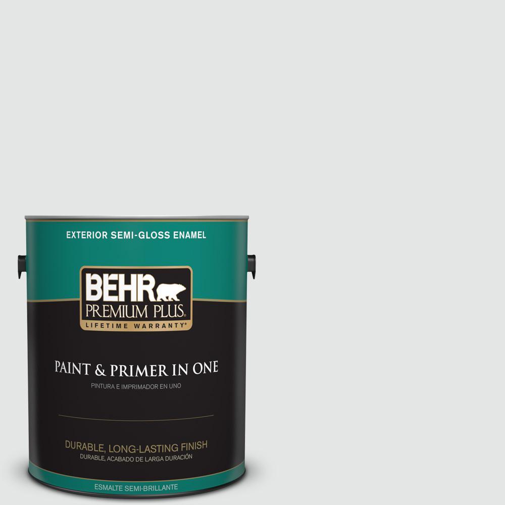 1 gal. #PPU26-13 Silent White Semi-Gloss Enamel Exterior Paint
