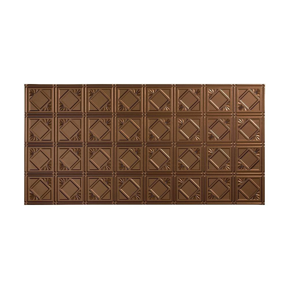 Fasade Traditional 4 - 2 ft. x 4 ft. Glue-up Ceiling Tile in Argent Bronze