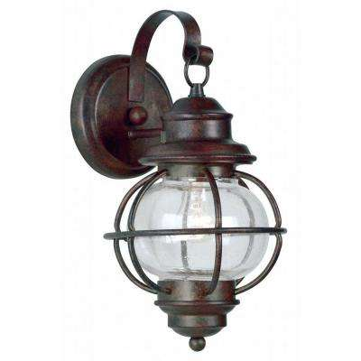 Hatteras 1-Light Gilded Copper Small Wall Lantern