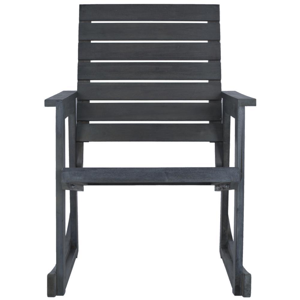 Alexei Ash Gray Acacia Wood Outdoor Rocking Chair