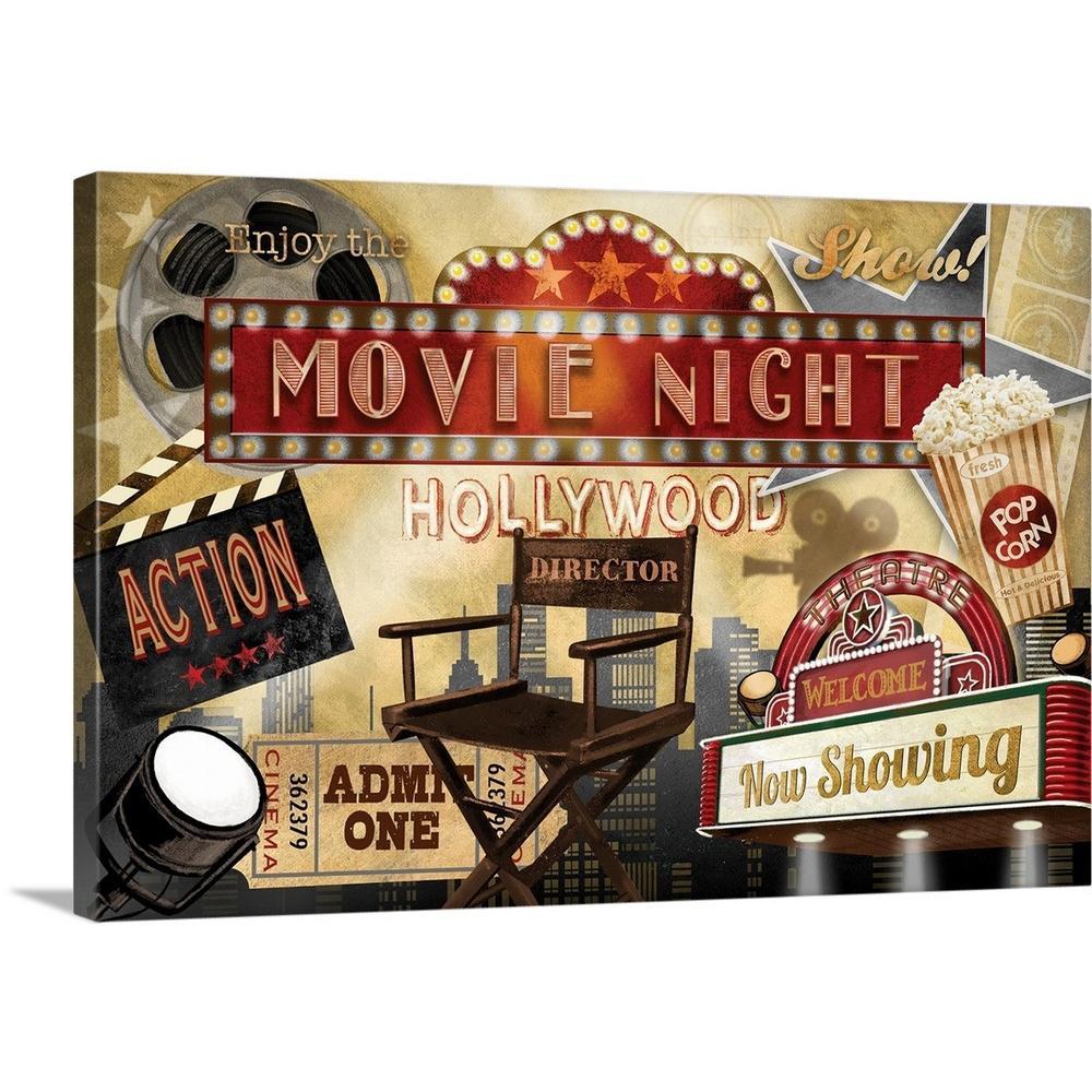 "36 in. x 24 in. ""Movie Night"" by  Conrad Knutsen Canvas Wall Art"