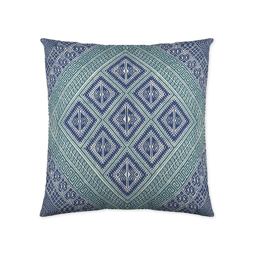 Kenzie Teal Geometric Polyester 18 In X Throw Pillow Set Of 2