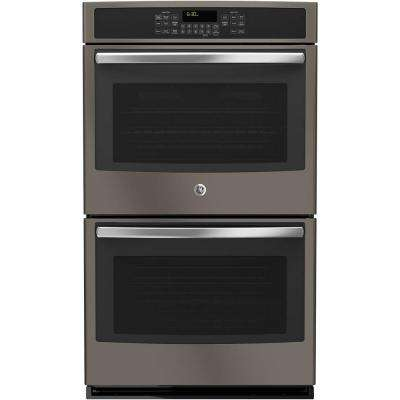 30 in. Double Electric Wall Oven Self-Cleaning with Convection (Upper Oven) in Slate