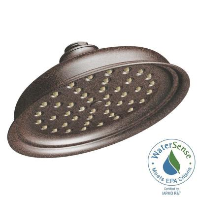 Isabel 1-Spray 7 in. Single Wall Mount Fixed Shower Head in Oil Rubbed Bronze