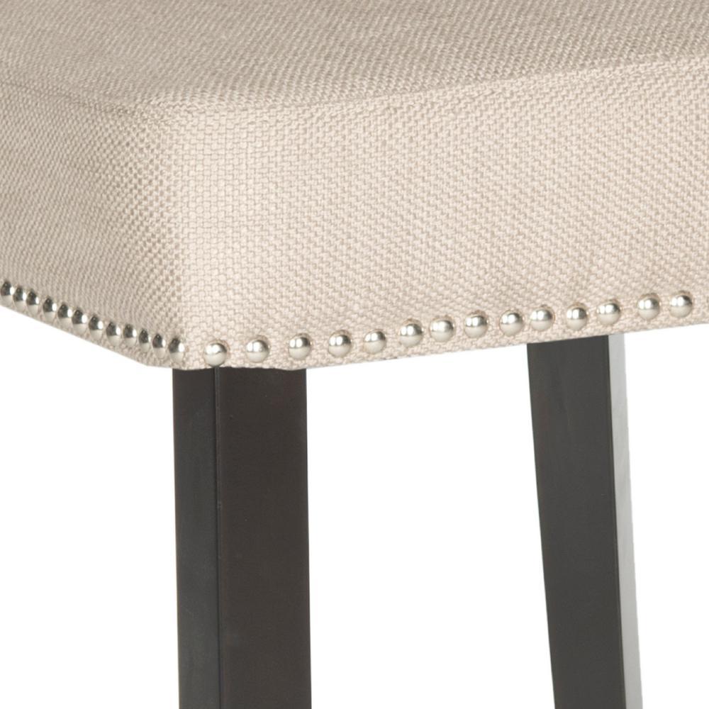 Brilliant Safavieh Addo 25 7 In Biscuit Beige Cushioned Bar Stool Creativecarmelina Interior Chair Design Creativecarmelinacom