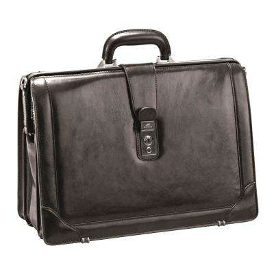 Luxurious Italian Leather Brown Briefcase for 17 in. Laptop