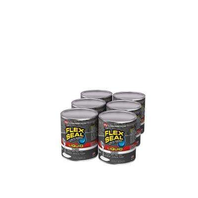 Flex Seal Liquid White 1 pt. Liquid Rubber Sealant Coating (6-Piece)