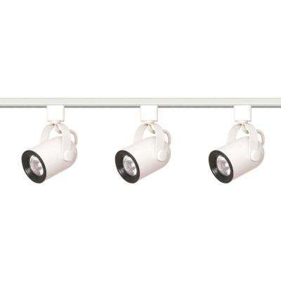3-Light White Track Lighting Kit