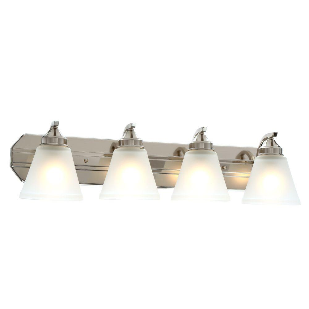 Over Sink Light Fixtures: 4-Light Bathroom Vanity Light Fixture Over Sink Lighting