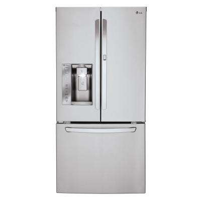 24.4 cu. ft. French Door Refrigerator with Door-In-Door in Stainless Steel