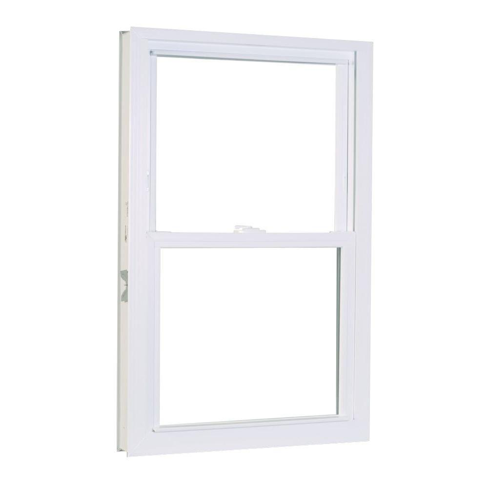 American Craftsman 31.75 in. x 53.25 in. 50 Series Double Hung White Vinyl Window with Buck Frame