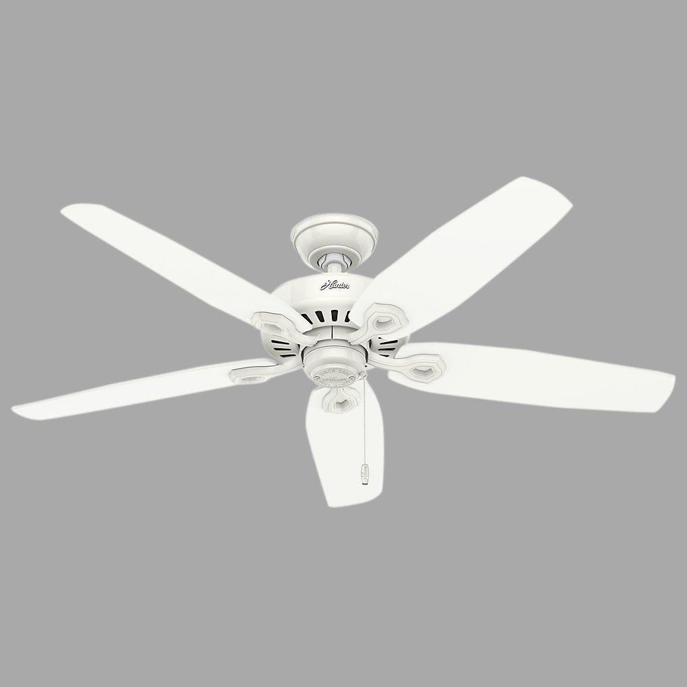 Builder Elite 52 in. Indoor/Outdoor Snow White Ceiling Fan