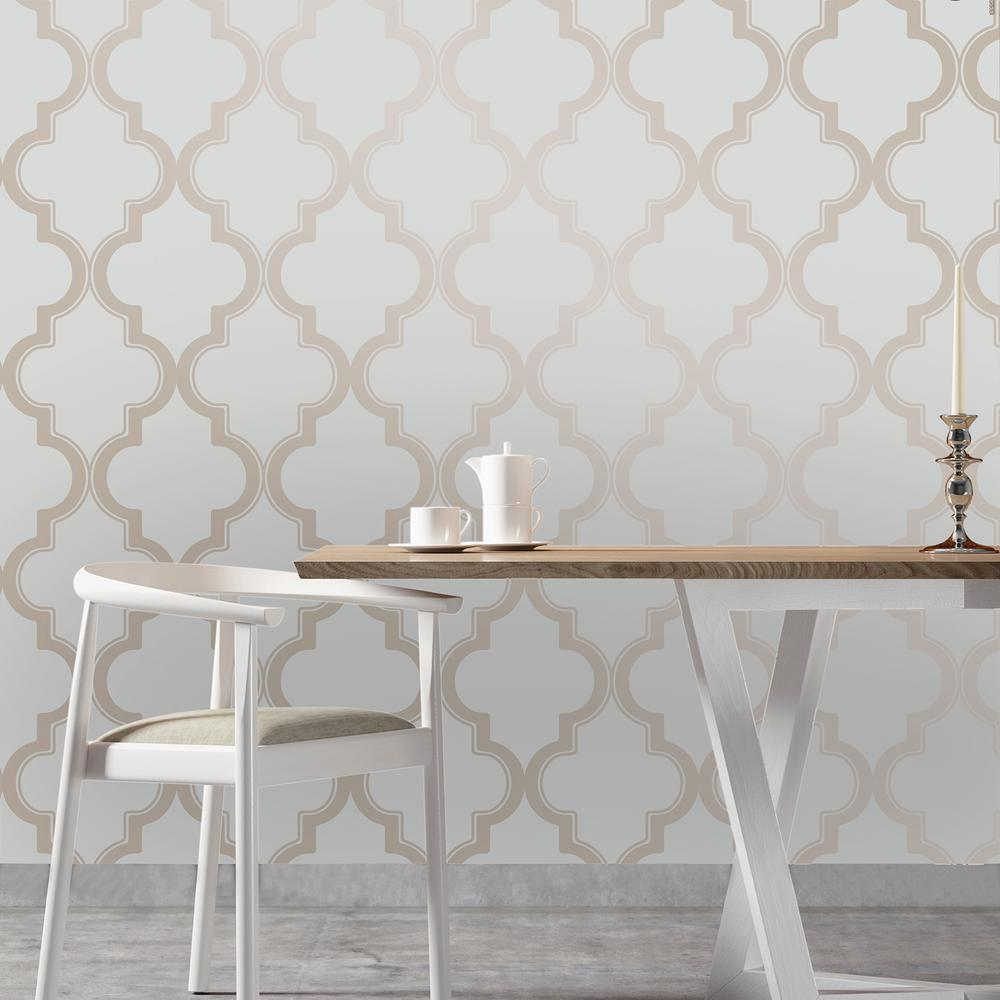 Tempaper Bronze Grey Marrakesh Wallpaper Ma083 The Home Depot