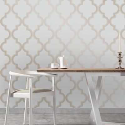 Marrakesh Bronze Gray Peel and Stick Wallpaper 56 sq. ft.