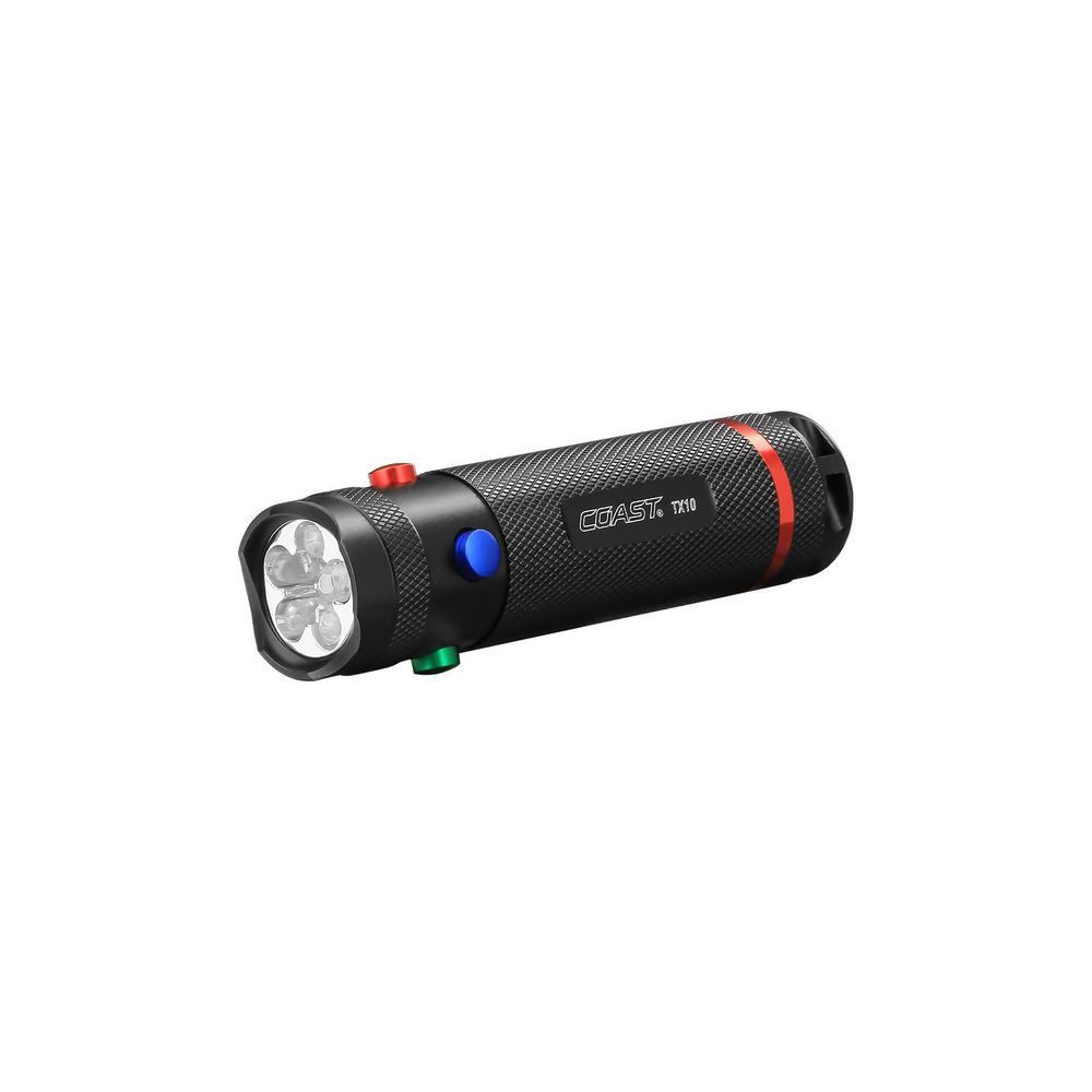 Coast TX10 80 Quad Color LED Signaling Flashlight